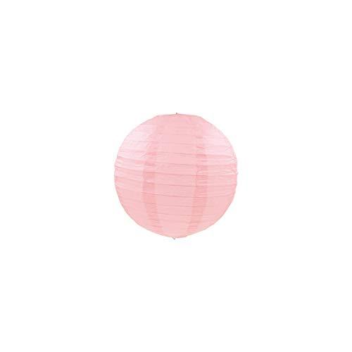 Papierlaterne 1Pc 8Inch 20 runde Mehrfarbenpapierlaternen-Kugel für Hochzeit Hängende Laterne-Geburtstag-Dekor Zubehör, blass rosa Grau, 4Inch 10Cm