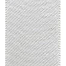 CLUB GREEN Diamante Satin Ribbon, Ivory, 23 mm x 25 m