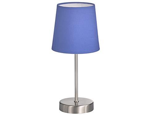 Clásica Lámpara de mesa con pantalla de tela en color azul marino ...