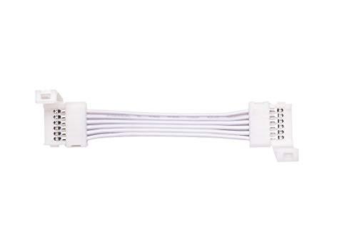 Cut-End zu Cut-End Verlängerungskabel für Philips Hue Lightstrip Plus (50 mm, 4 Packung, Weiß) Cut Snap
