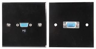 WALLPLATE, VGA, SOCKET, BLACK, STEEL PSG03794 By PRO SIGNAL Vga-steel Wall Plate
