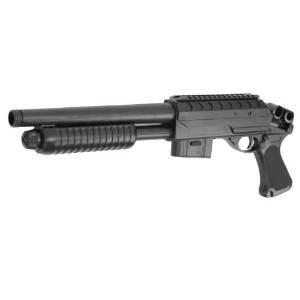 Unbekannt M3000 Shotgun Springer Softair-Gewehr 6mm BB schwarz Einzelschuss Federdruck Air-Soft Spielzeug-Waffe unter 0,5 Joule ab 14 Jahre (Bb-gewehr M 16)