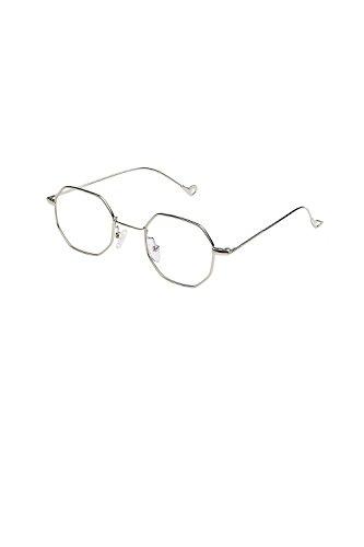 Vemubapis Frauen Vintage Stilvolle Sonnenbrille Octagon Unisex - Flat - Brillen C8 One Size