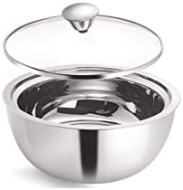 Borosil Stainless Steel Insulated Curry Server, 900ml, Silver
