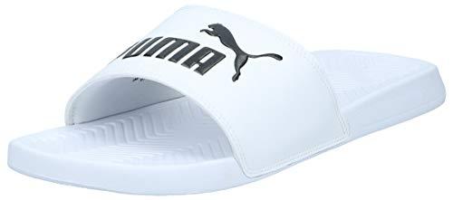PUMA Popcat, Zapatos de Playa y Piscina Unisex Adulto, White Black, 47 EU