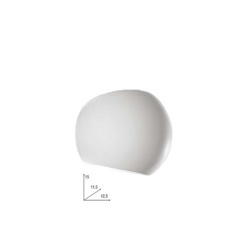Applique con finiture in gesso lampada da parete design moderno bianco
