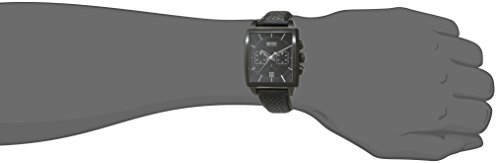 Hugo Boss Hb1005 Mens Quartz Black Chronograph Black Leather Strap 1513357