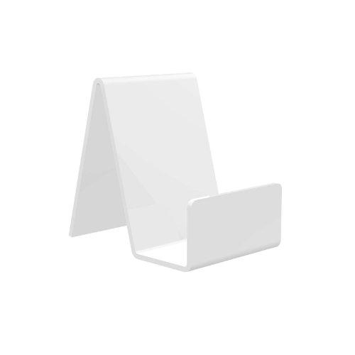 5 x Displaypro pequeñas acrílico blanco función, para sujetar libros en máquina, y teléfonos, placas con orificios para resistente y! - WL Sports!