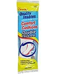 Comfort Cushions Double Thickness Insoles - Women's Size 7 -8.5, One Pair,(Premier Brands) by Premier