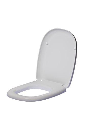 Ideal standard t663001 sedile avvolgente per ideal standard, collezione tesi classic resina, bianco