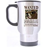 LaHuo One Piece Wanted Fire Boxing Ace Logo Custom Design Stainless Steel Coffee Mug Car Travel Water Bottle Tea Cup 14 OZ