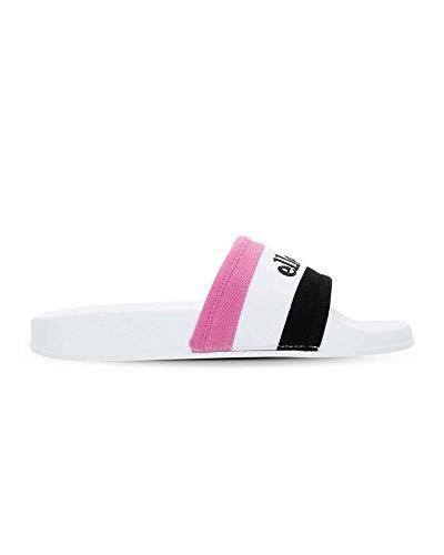 Ellesse Borgaro, Sandalias de Punta Descubierta para Mujer, Multicolor Black/White/Super Pink B/Wht/Super...