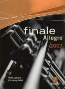 Finale Allegro 2007D. CD-ROM für Windows Vista/XP/2000 und Macintosh: Mehr Leistung für weniger Geld als bei jedem vergleichbaren Notationsprogramm