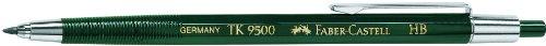 Faber-Castell TK 9500 (139500) – Lápiz mecánico 2 mm, color verde, de plástico, HB