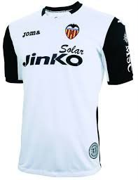Joma - Camiseta del Valencia FC, diseño aniversario 2004 - 2014 blanco Talla:medium