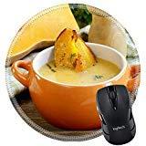 MSD Naturkautschuk Mousepad rund Mauspad 21975451Kürbis creme Suppe mit Stücken schmoren Kürbis und Thymian -