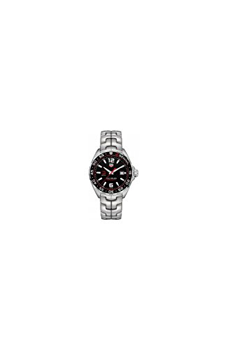 TAG Heuer Herren-Armbanduhr Armband Edelstahl + Gehäuse Schweizer Quarz Zifferblatt Schwarz WAZ1012.BA0883