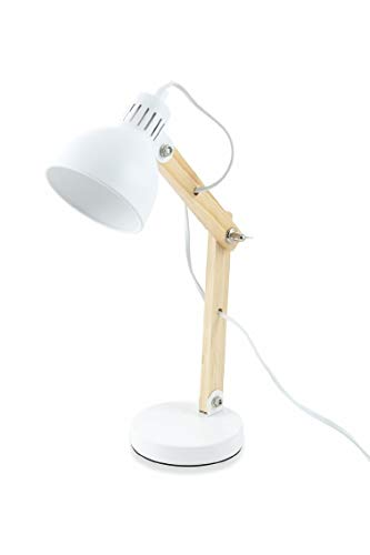 Kooper Industry - Lámpara madera metal blanco