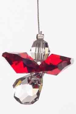 Swarovski Hanging Crystal Guardian Angel Birthstone Suncatcher JANUARY - GARNET