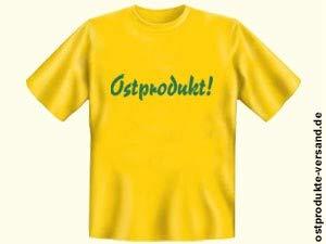 Tshirt Ostprodukt gelb   Ostalgie   DDR Traditionsprodukte