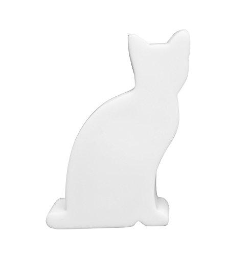 8 seasons design | Kleine LED Dekoleuchte Katze Shining Cat Micro (11 cm, batteriebetrieben, Deko Mitbringsel & Geschenk für Katzenliebhaber) weiß -