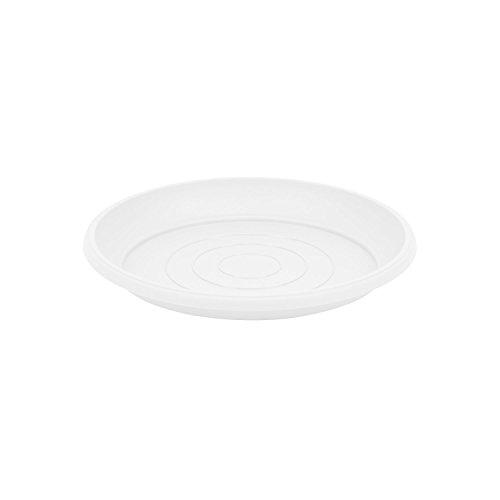 Terra soucoupe en plastique, blanche couleur, diametre: 21 cm