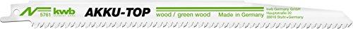 einhell akku saebelsaege kwb AKKU TOP Säbelsäge-Blätter im praktischen Zweier-Set für Holz – Sägeblatt aus HCS Kohlenstoffstahl – Länge 240/218 mm, Made in Germany
