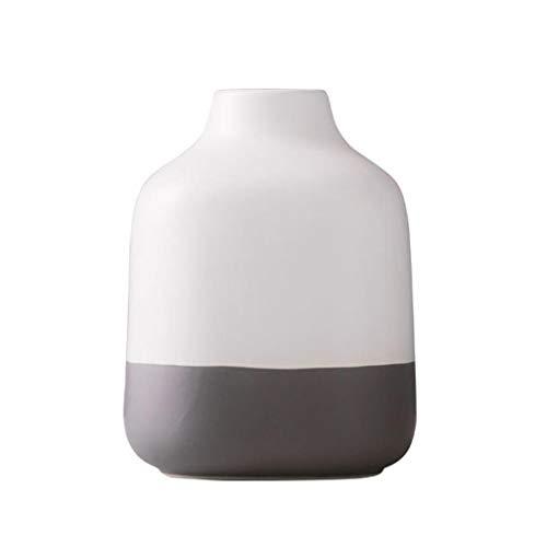 AMCER Keramik Deko Vase Kleine Blumenvase Moderne Tischvase Blumen Pflanzen Vase Keramikvase...
