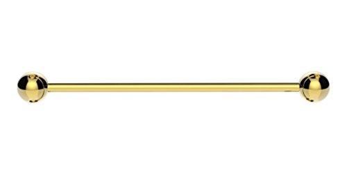 The Emporium - Gold Industrielle Hantel Stange Ohr Piercing Chirurgenstahl Mit Kugeln - A, Gold, 316 Edelstahl, 1.2mm(16g)