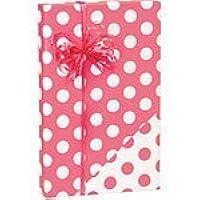 "Coral Pink and White Polka Dot Reversible Gift Wrap Roll 24"" X 15' by Premium Gift Wrap preisvergleich bei billige-tabletten.eu"