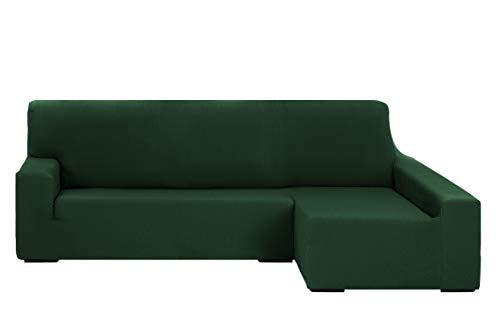 Martina Home Tunez Custodia per Divano Chaise Longue, 32x 17x 42cm Braccio Destro Lungo (Visto dal Davanti) BRAZO DERECHO (Visto de frente) 240 cm a 280 cm Verde Bottiglia