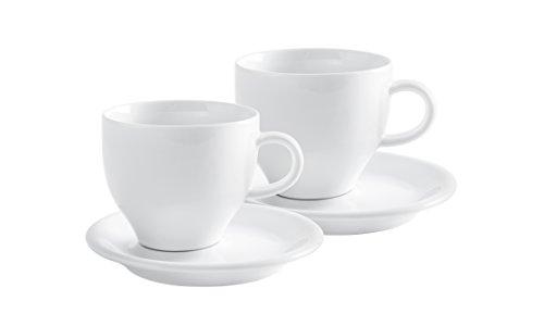 Kahla Milchkaffeetassen Set 4 teilig Café Sommelier 2.0 weiß 350 ml