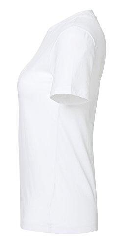 YTWOO Damen Basic T-Shirt Aus 100% Bio-Baumwolle mit Rundhalsausschnitt und Breitem Kragen. Damen Bio T Shirt, Bio Tshirt Kurzarmshirt, Organic Cotton Weiß