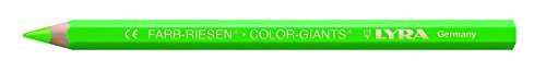 Lyra FARB-RIESEN-12matite colorate con astuccio di cartone verde fluo