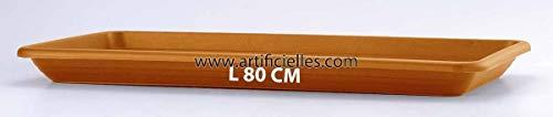 Artificielles.com - Plateau Aero pour Jardiniere Plastique injecte Top Qualite 80 cm Terre Cuite - dimlon: 80 cm - Couleur: Ambre