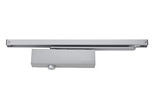Bricard 6201157 Ferme-Porte hydraulique force 3 (60kg), bras à Glissière, Ce, Coupe-Feu, conforme à la norme en 1154, Argent