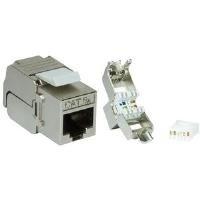 LogiLink Professional NK4003 Keystone Modul Kat.6A, Klasse EA grau - Dvi-modul