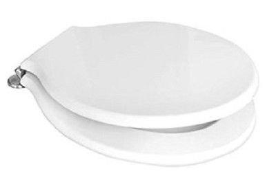 Pozzi ginori serie montebianco 07761 ricambio sedile con cerniere cromate finitura bianco