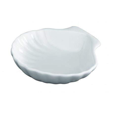 Muschelschalen weiß Mini Tapasschale Party Serviersauce Porzellan Vorspeise Sauce Dessert