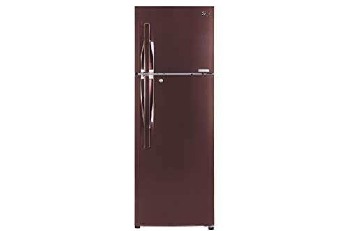 LG 335 L 4 Star Inverter Frost-Free Double-Door Refrigerator (GL-T372JASN, Amber Steel)