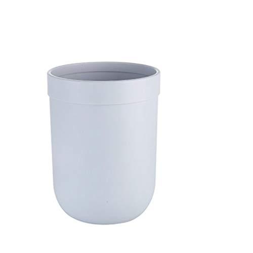 Zlw-shop Secchi per la spazzatura Creative Cute Household Cestino Senza Anello di Pressione della Copertura Soggiorno Camera da Letto Cucina Secchio (Color : Gray, Dimensione : 8L)