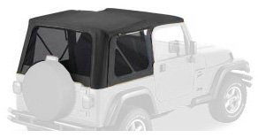 Bestop 51180-15 Black Denim Replace-a-Top Soft Top Tinted Windows-No door skins included-No frame hardware included- 1997-2002 Jeep Wrangler by Bestop