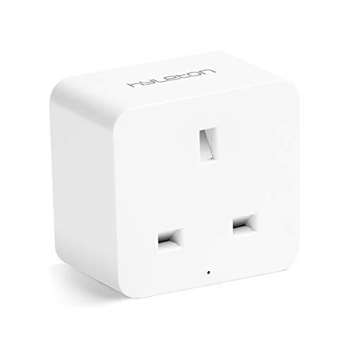 Smart Plug, hyleton Mini Alexa Plug Socket Remote Control Your Home Anywhere and Anytime, WiFi Timer Plug Works with Alexa, Google Assistant and IFTTT, No Hub Required-hyleton UK Plug (Smart Plug)