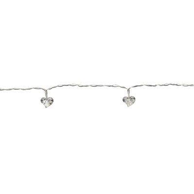 LED Lichterkette 10'er Herz klar/weiss Batteriebetrieb 726-10