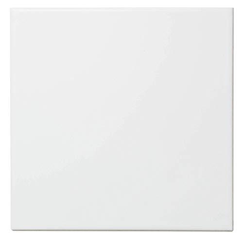 Keramikfliesen 15x15 cm, weiß matt (1 m²)