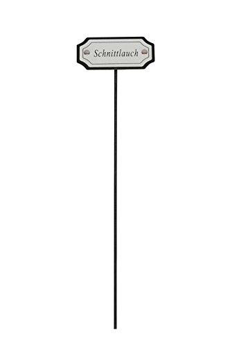 PDS Kräuterstecker, Kräuterschild, Pflanzschilder, Pflanzenstecker, aus Metall, 5 Modelle, für Pflanztopf oder Beet, H je 28cm