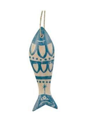 LES JARDIN D'ULYSSE - Decoración de Pared con Peces étnicos, Azul, tamaño...