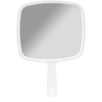 Salon Professional Friseur Große Hand Held Spiegel weiß
