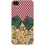 Maroon Morrocan Lattice and Floral Pattern with