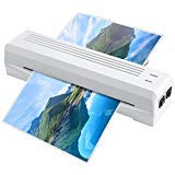 Tabpole Thermal Laminator A4 A6 Laminating Machine Sheets with 2 Rollers and Jam-Release Switch, Fast Warm-up Speed, for Home/Office School (White) [Upgrade]